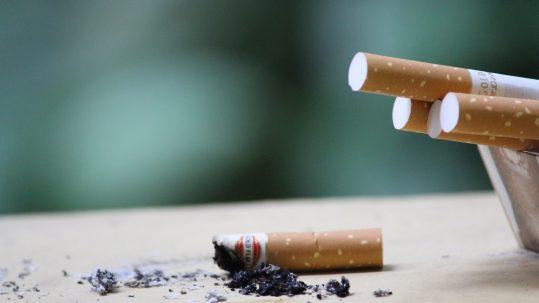Opgebrande sigaret