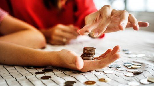 Kleingeld tellen