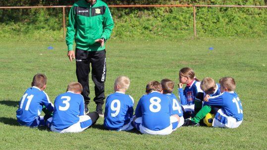 voetbalteam kinderen en coach